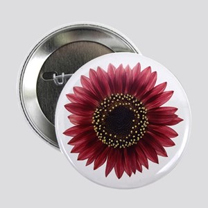 "Ruby sunflower 2.25"" Button"