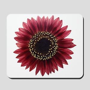 Ruby sunflower Mousepad