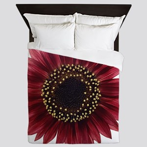 Ruby sunflower Queen Duvet