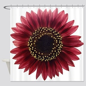 Ruby sunflower Shower Curtain