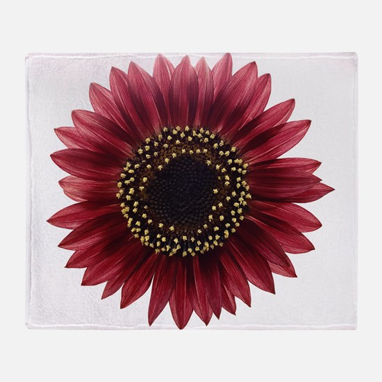 Ruby sunflower Throw Blanket
