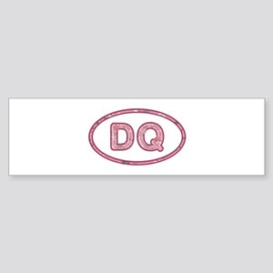 DQ Pink Bumper Sticker