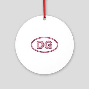 DG Pink Round Ornament