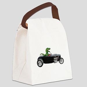 T-rex Hot Rod Canvas Lunch Bag