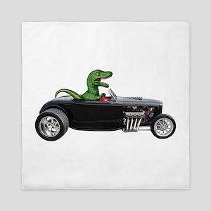 T-rex Hot Rod Queen Duvet