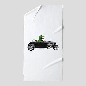 T-rex Hot Rod Beach Towel