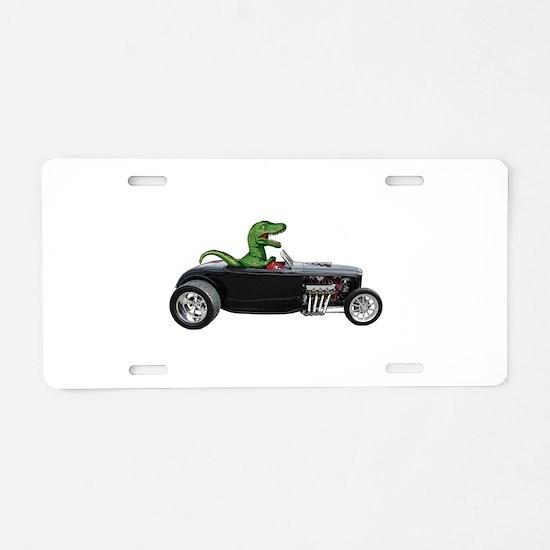 T-rex Hot Rod Aluminum License Plate