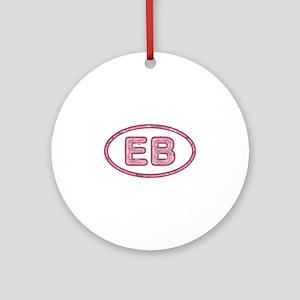 EB Pink Round Ornament