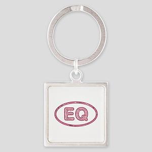 EQ Pink Square Keychain