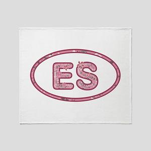 ES Pink Throw Blanket