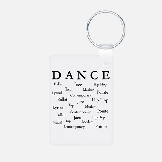 Dance Words Aluminum Photo Keychain