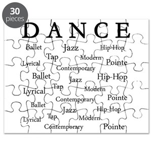 modern dance puzzles cafepress