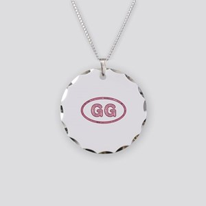 GG Pink Necklace Circle Charm