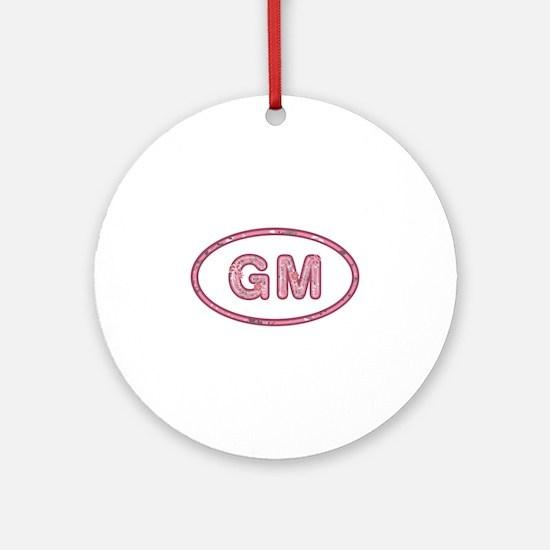 GM Pink Round Ornament