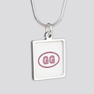 GG Pink Silver Square Necklace