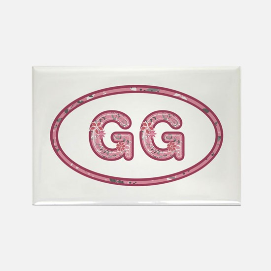 GG Pink Rectangle Magnet 10 Pack