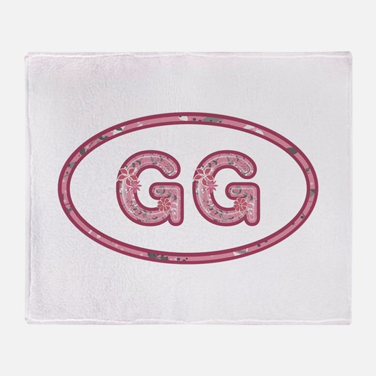 GG Pink Throw Blanket