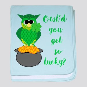 Owl'd You Get So Lucky baby blanket