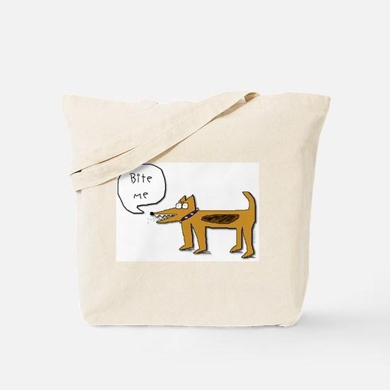 Bite Me Dog Tote Bag