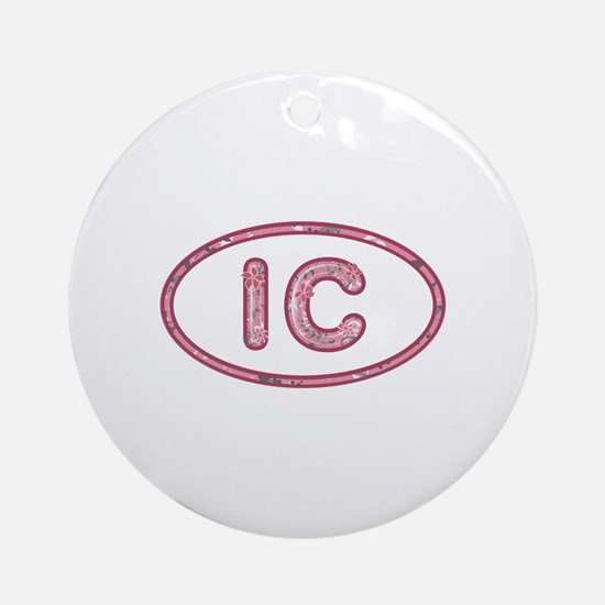 IC Pink Round Ornament