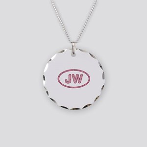 JW Pink Necklace Circle Charm