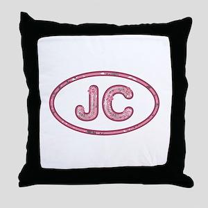JC Pink Throw Pillow