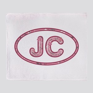 JC Pink Throw Blanket