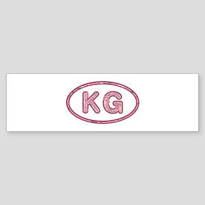 KG Pink Bumper Sticker