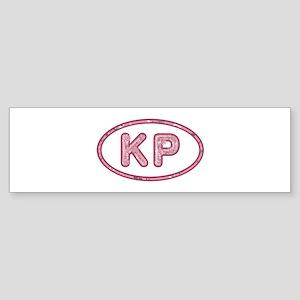 KP Pink Bumper Sticker