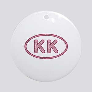KK Pink Round Ornament