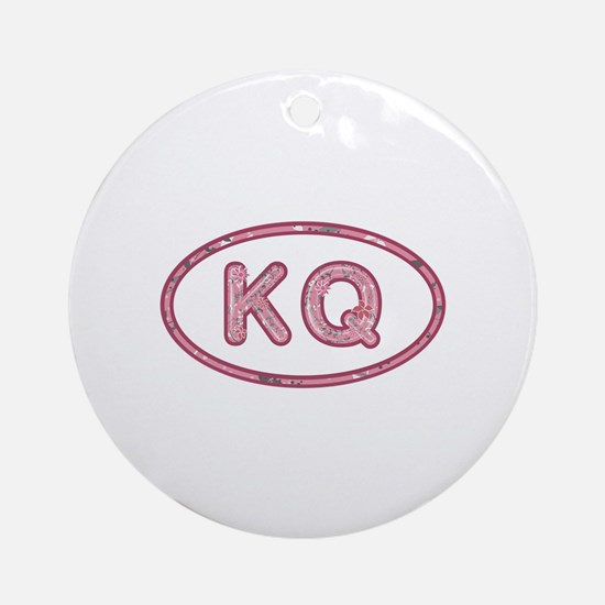 KQ Pink Round Ornament