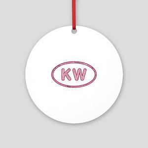 KW Pink Round Ornament