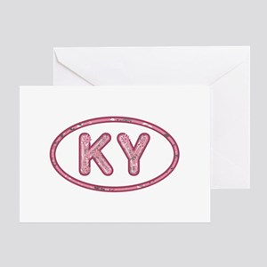 KY Pink Greeting Card