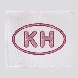 KH Pink Throw Blanket
