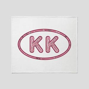 KK Pink Throw Blanket