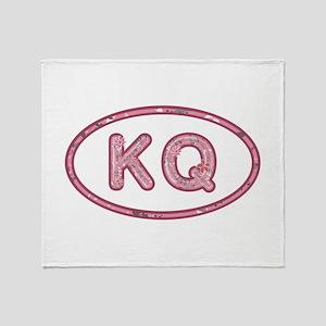 KQ Pink Throw Blanket