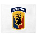 86th Infantry BCT King Duvet