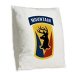 86th Infantry BCT Burlap Throw Pillow