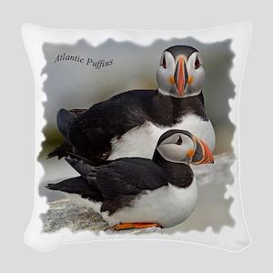 Puffin Tee Woven Throw Pillow