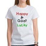Happy Goat Lucky Women's T-Shirt