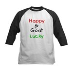 Happy Goat Lucky Kids Baseball Jersey