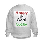 Happy Goat Lucky Kids Sweatshirt