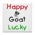 Happy Goat Lucky Tile Coaster