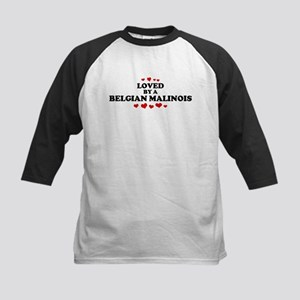 Loved: Belgian Malinois Kids Baseball Jersey
