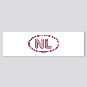 NL Pink Bumper Sticker