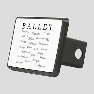 Ballet Words Rectangular Hitch Cover