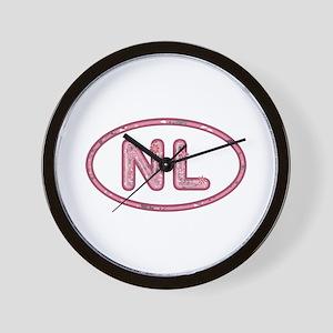 NL Pink Wall Clock