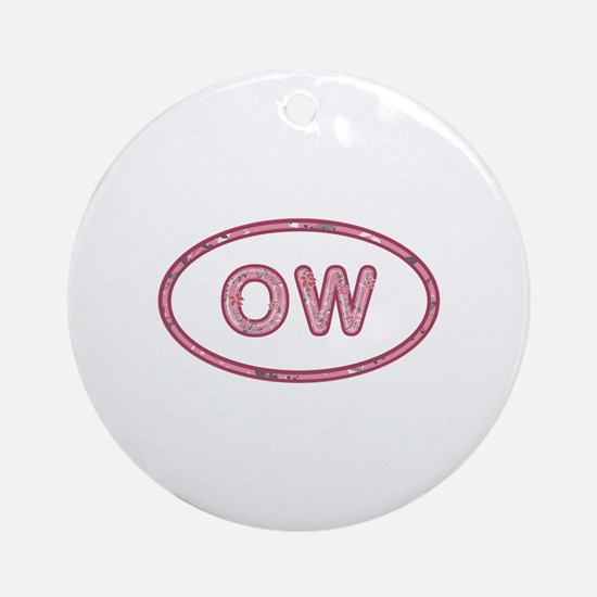 OW Pink Round Ornament