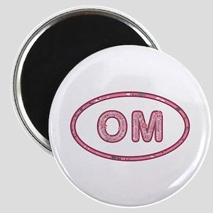 OM Pink Round Magnet
