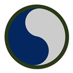 29th Infantry Round Car Magnet